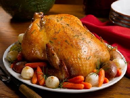 Апетитното печено пиле - угощение за любовника